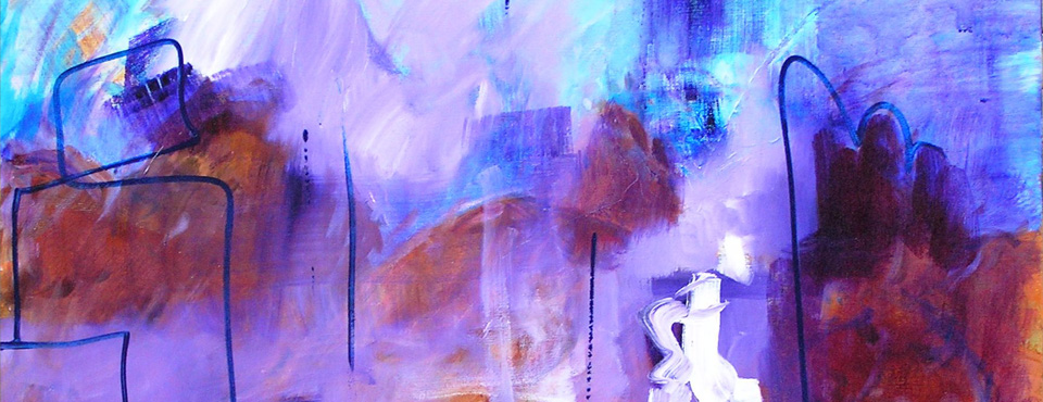 Purple Haze. Acrylic on canvas. 90cm x 100cm
